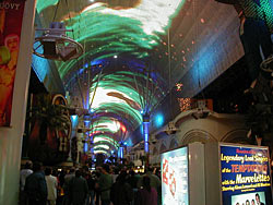A photo of the Fremont Street 70's Lightshow