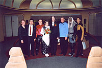 From left to right: Mary and Murat Tanyel, Miroslav Klivansky, Patty, Art, and the Enterprise crew.