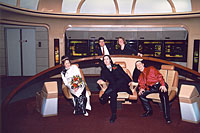 The photographer had us pose for two funny 'Enterprise in motion' pictures. This is our favorite of the two.