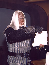 I swear that the best picture we received was of the Klingon.