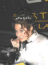 Miroslav snapped this photo at the reception, and it's Art's favorite shot of Patty. Note the crazy smoking drink!