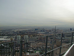 The view from the top of the Stratosphere Tower