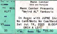 Weird Al Ticket